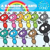 A Rainbow of Ants Clipart Set