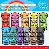A Rainbow of Bubble Mixture Bottles Clipart Set