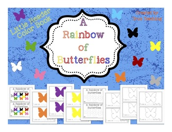 A Rainbow of Butterflies Color Book