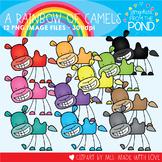 A Rainbow of Camels Clipart Set