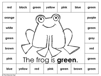 A Rainbow of Colors Color Word Unit