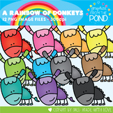 A Rainbow of Donkeys Clipart Set