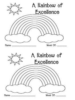 A Rainbow of Excellence {Behavior Management System}