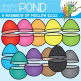 A Rainbow of Hollow Eggs Clipart Set