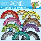 A Rainbow of Rainbows Clipart Set