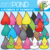 A Rainbow of Raindrops Clipart Set