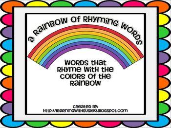 A Rainbow of Rhyming Words