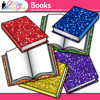 Reading Book Clip Art {Back to School Supplies for Classroom Resources}