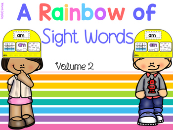 A Rainbow of Sight Words Headbands Vol.2