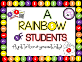 A Rainbow of Students: Get to Know You Activity
