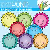A Rainbow of Sunshine Clipart