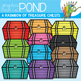 A Rainbow of Treasure Chest Clipart Set
