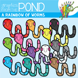 A Rainbow of Worms Clipart Set
