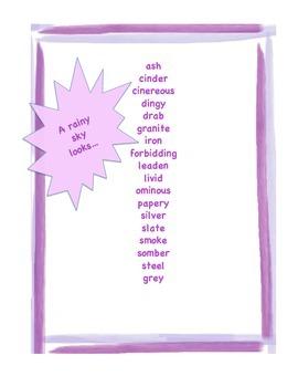 A Rainy Day Word List