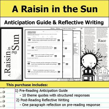 A Raisin in the Sun - Anticipation Guide & Reflection