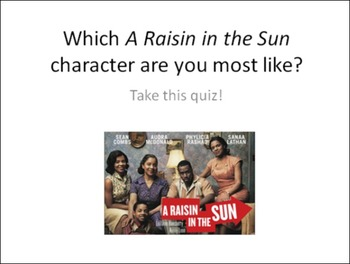 A Raisin in the Sun Character Analysis Work