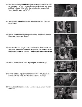 A Raisin in the Sun Film (1961) Study Guide Movie Packet