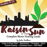 A Raisin in the Sun Movie Viewing Guide, Questions, Prompts, Sub Plan