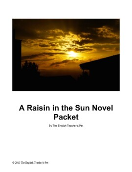 A Raisin in the Sun Questions, Organizers and Projects Novel Packet