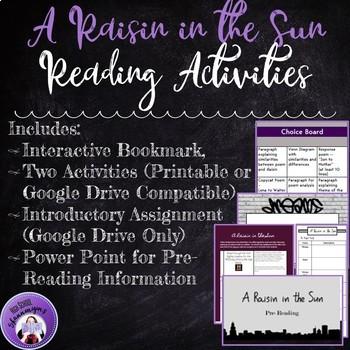 A Raisin in the Sun Reading Activities
