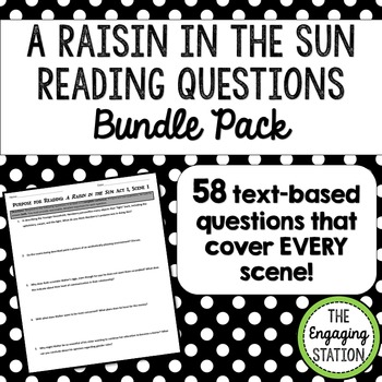 A Raisin in the Sun Reading Questions BUNDLE PACK
