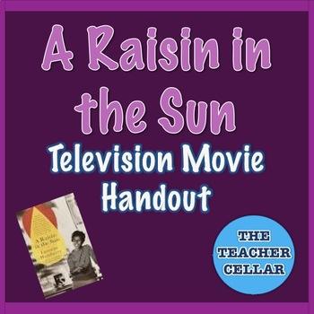 """A Raisin in the Sun"" Television Movie Handout"