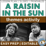 A Raisin in the Sun Themes Textual Analysis Activity