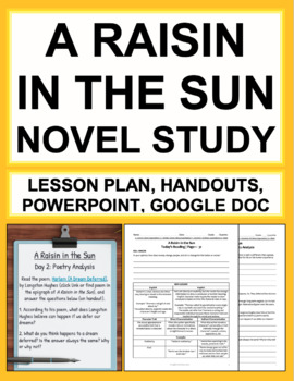 A Raisin in the Sun Novel Study Unit Plan & Bundled Lesson Plans