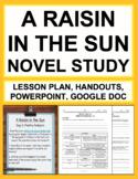 A Raisin in the Sun Novel Study Unit Plan, Lesson Plans and Handouts