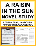 A Raisin in the Sun Novel Study Unit Plan, Lesson Plans an