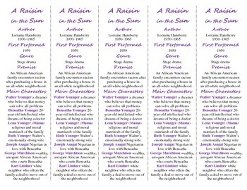 A Raisin in the Sun edition of Bookmarks Plus: A Handy Reading Aid!