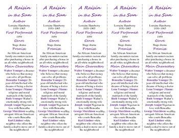 A Raisin in the Sun ed. of Bookmarks Plus: Fun Freebie & Handy Reading Aid!