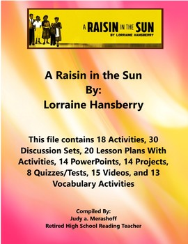 A Raisin in the Sun By Lorraine Hansberry Supplemental Activities Fun Engaging