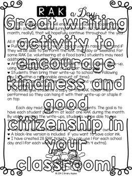 Random Acts of Kindness Writing
