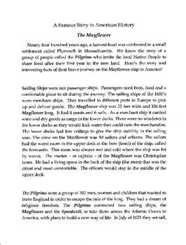 A Read Aloud Story - the Mayflower