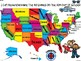 A+ Read, Name, and Color Fifty States for the 50th Day of School