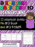 A Reader's Response to Literature {22 response sheets for any book}