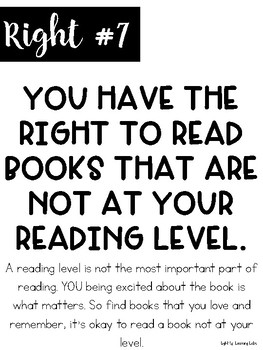 A Reader's Rights Poster Set