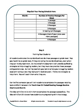 A Reading Comprehension Test Prep Strategy; Teach How It's Tested! Paid Version