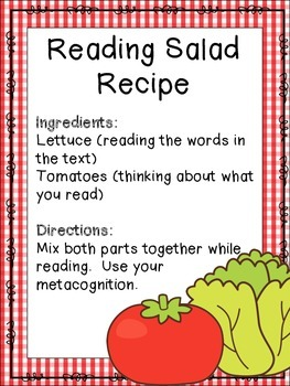 A Reading Salad Recipe {Reading Strategy}
