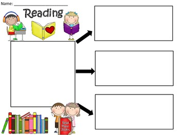 A+  Reading ... Three Graphic Organizers