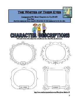 The Whites of Their Eyes, by Andrew Clements: A Reading Workbook
