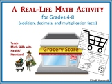 A Real Life Math Activity: Shopping for Food (add, decimals, multiplication)