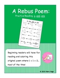 A Rebus Poem: Practice Reading a, and, are