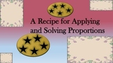 A Recipe for Applying and Solving Proportions