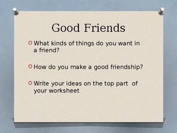 A Recipe for Friendship