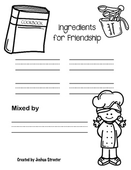 A Recipe for Friendship with the Book Enemy Pie [1st & 2nd Grade] NO PREP