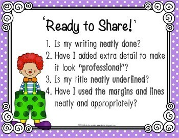 Writers Workshop - Writing Traits Posters - {A Recipe For Good Writing}