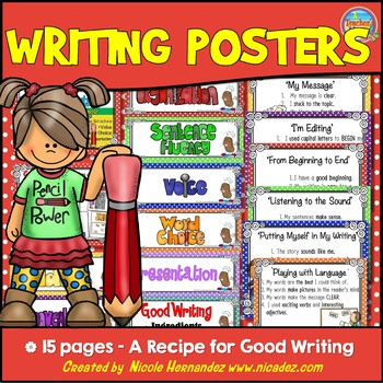 Writers Workshop - Writing Traits Posters - {A Recipe For