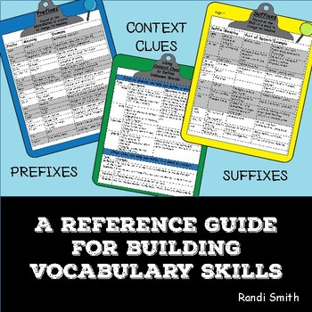 A Reference Guide for Building Vocabulary Skills